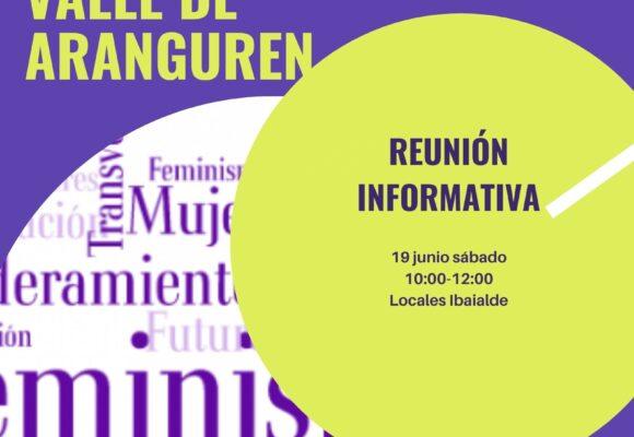 Reunión informativa del grupo de Mujeres Jóvenes del Valle de Aranguren